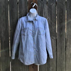 Old Navy Large Denim Button Down
